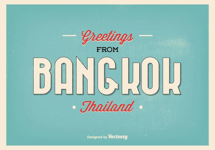 Bangkok Greeting Illustration