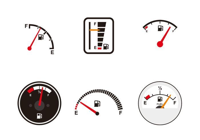 various fuel gauge vectors