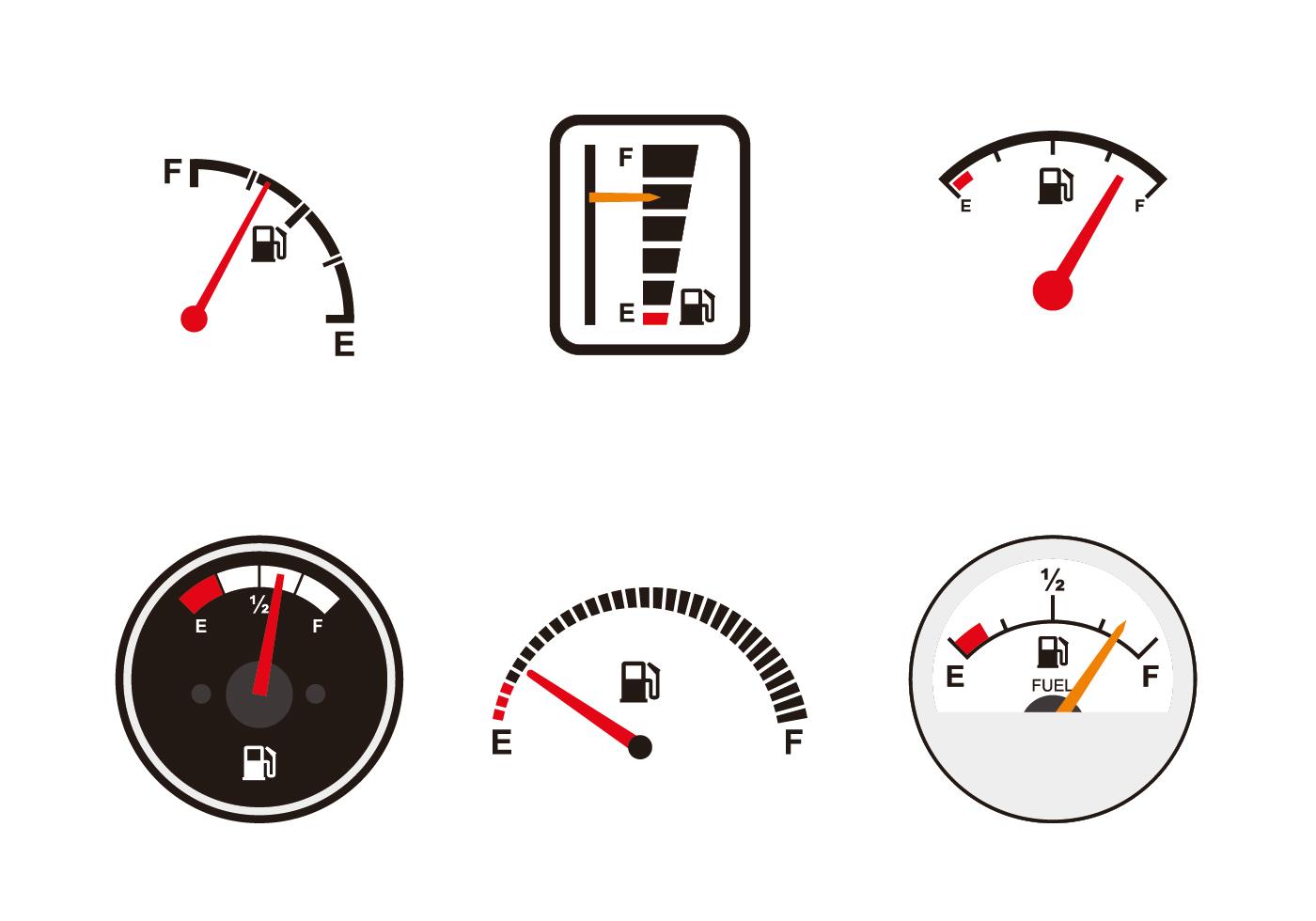 Various Fuel Gauge Vectors Download Free Vector Art