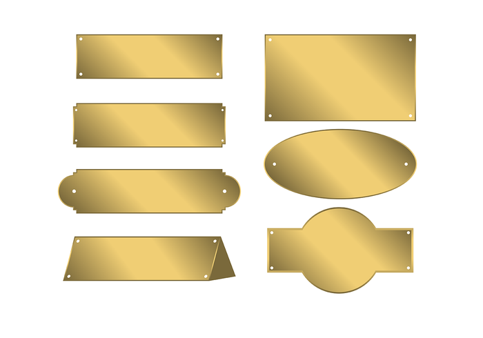 Gold Name Plate Vector