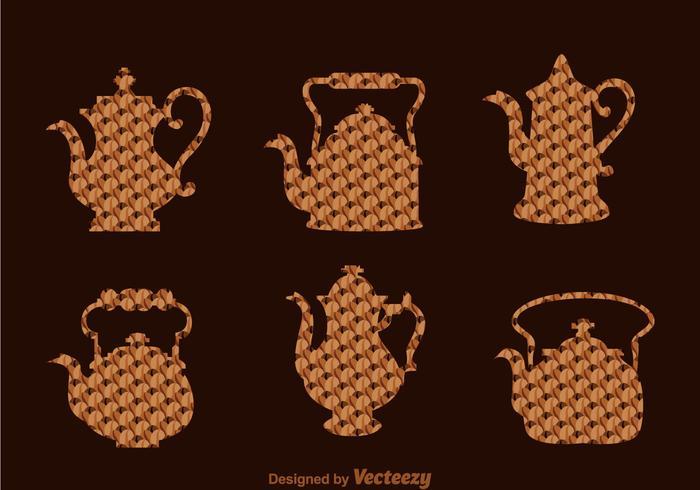 Café árabe e pote de chá