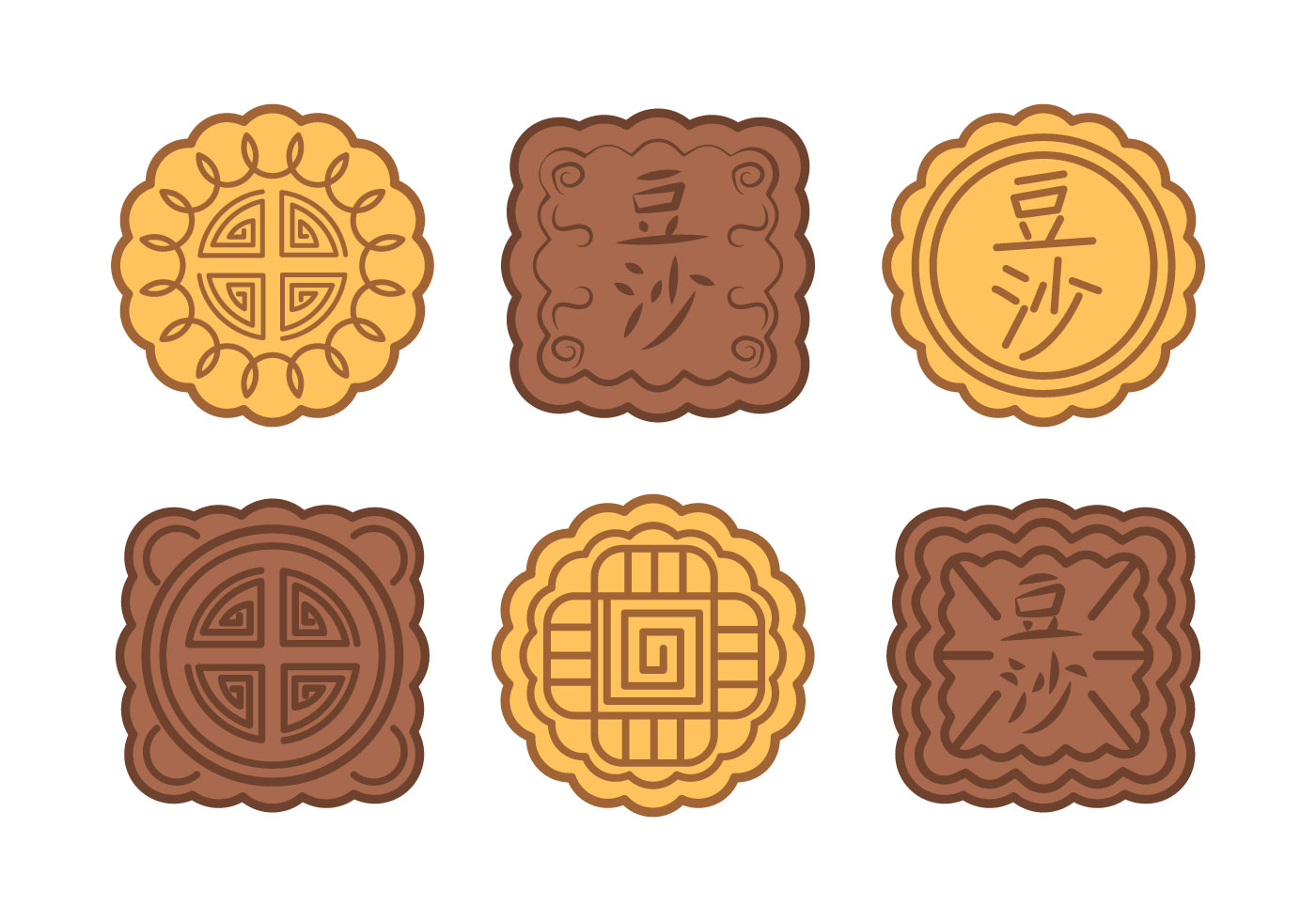 Moon Cake Vector - Download Free Vector Art, Stock ...
