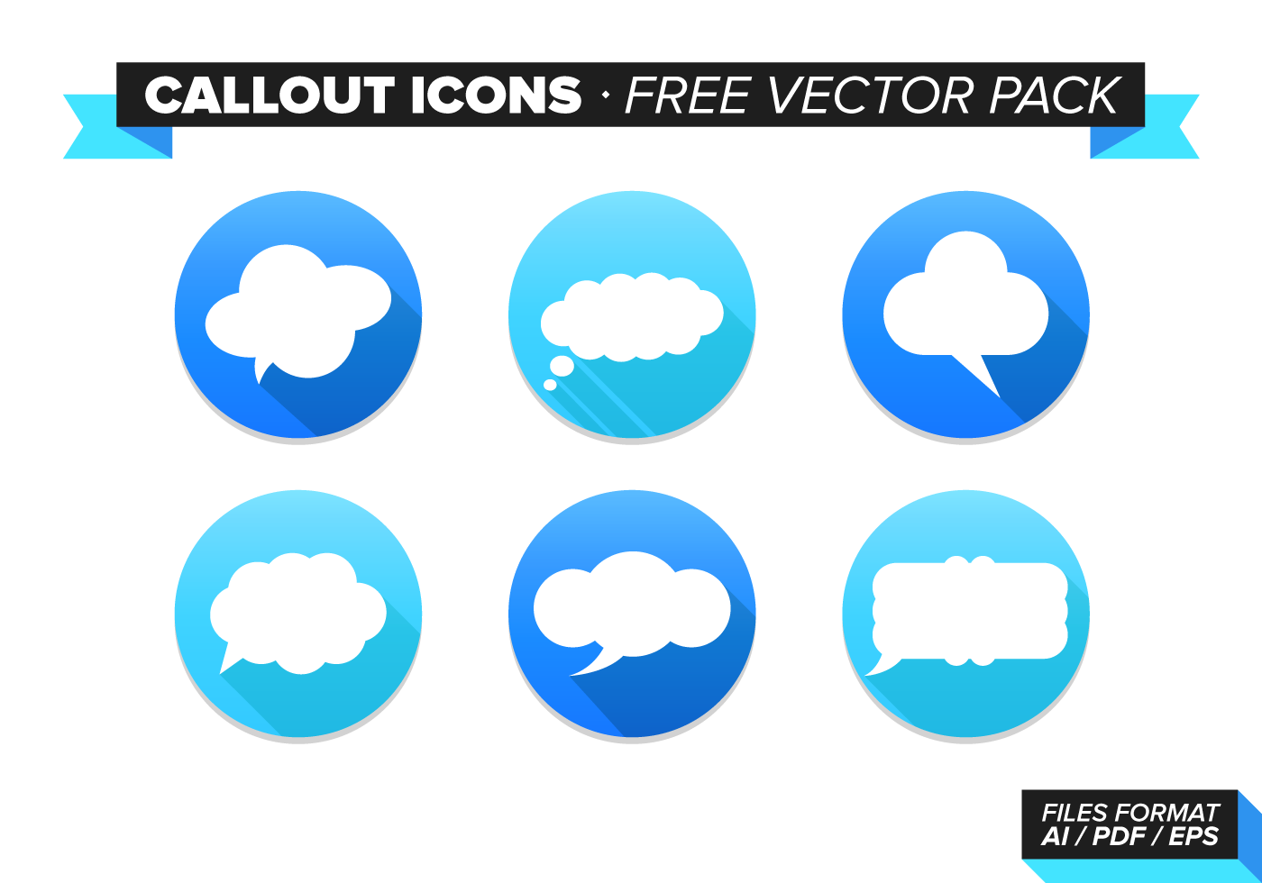 callout icons free vector pack download free vector art