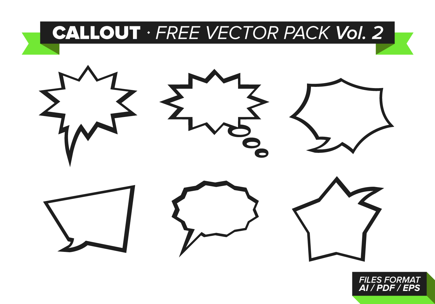 Callout Free Vector Pack Vol. 2