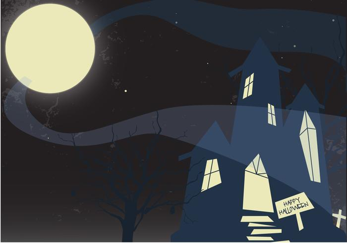 Free Haunted Mansion Vector
