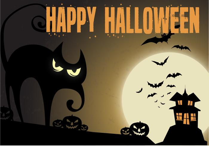 Gratis Haunted Night Vector