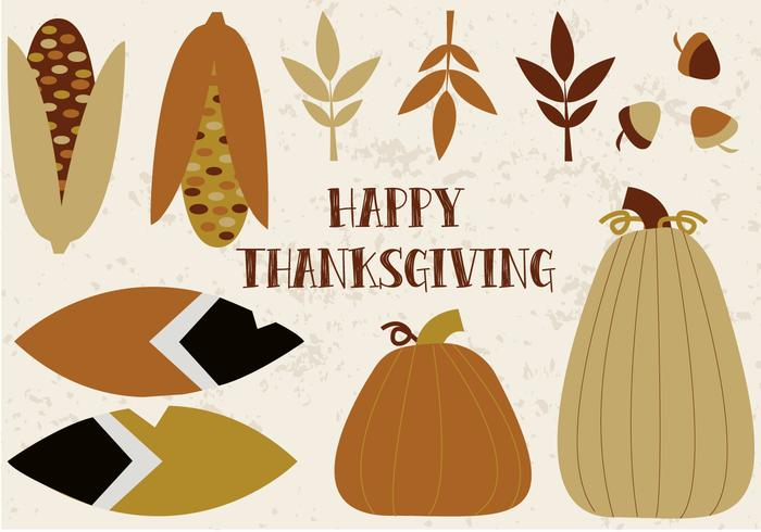 Vector collage gratuit de Thanksgiving
