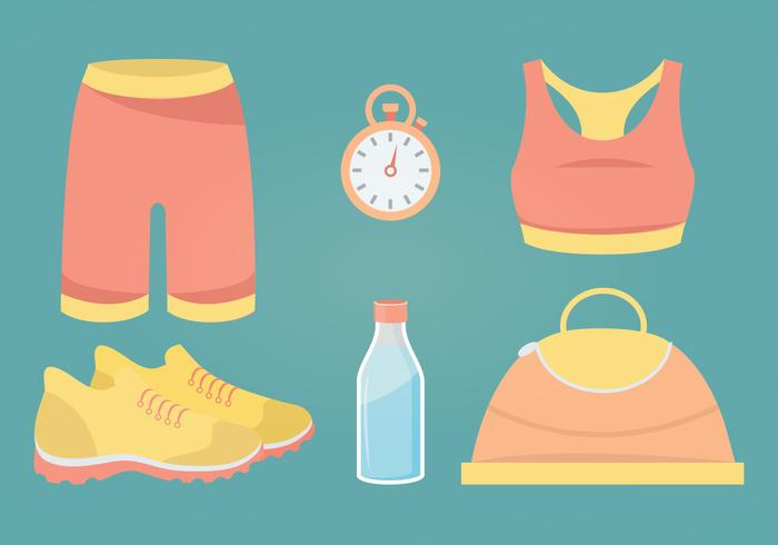 Illustrazione vettoriale di accessori fitness