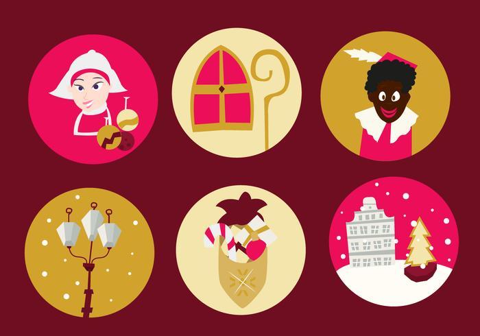 Navidad Países Bajos Iconos Gratis vector