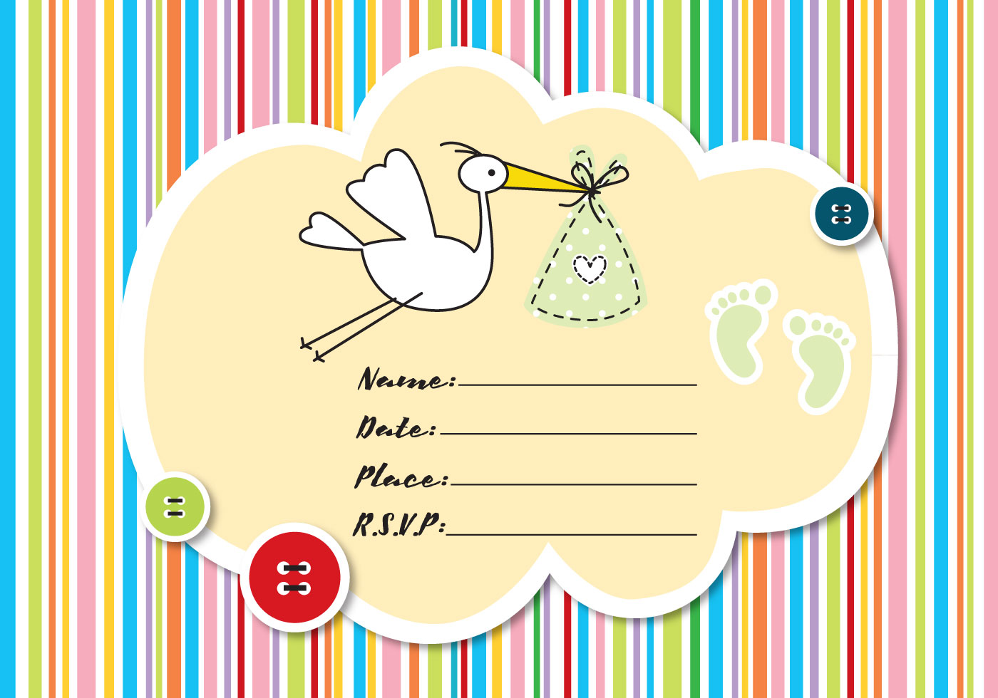 Baby Shower Invitation Download Free Vector Art Stock