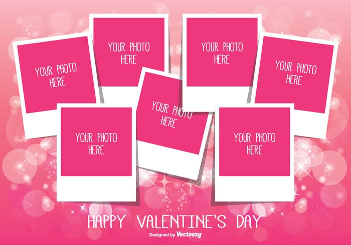 Valentine's Day Photo Collage Template