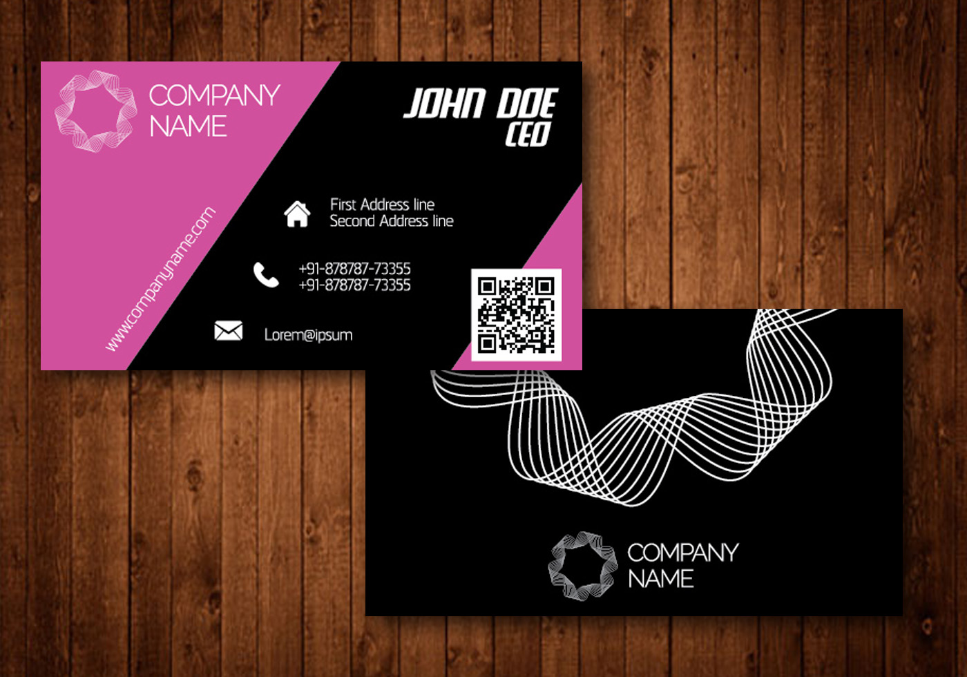 Pink creative business card download free vector art stock pink creative business card download free vector art stock graphics images reheart Image collections