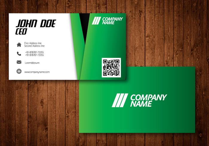 Groene Creative Visiting Businesscard Vector