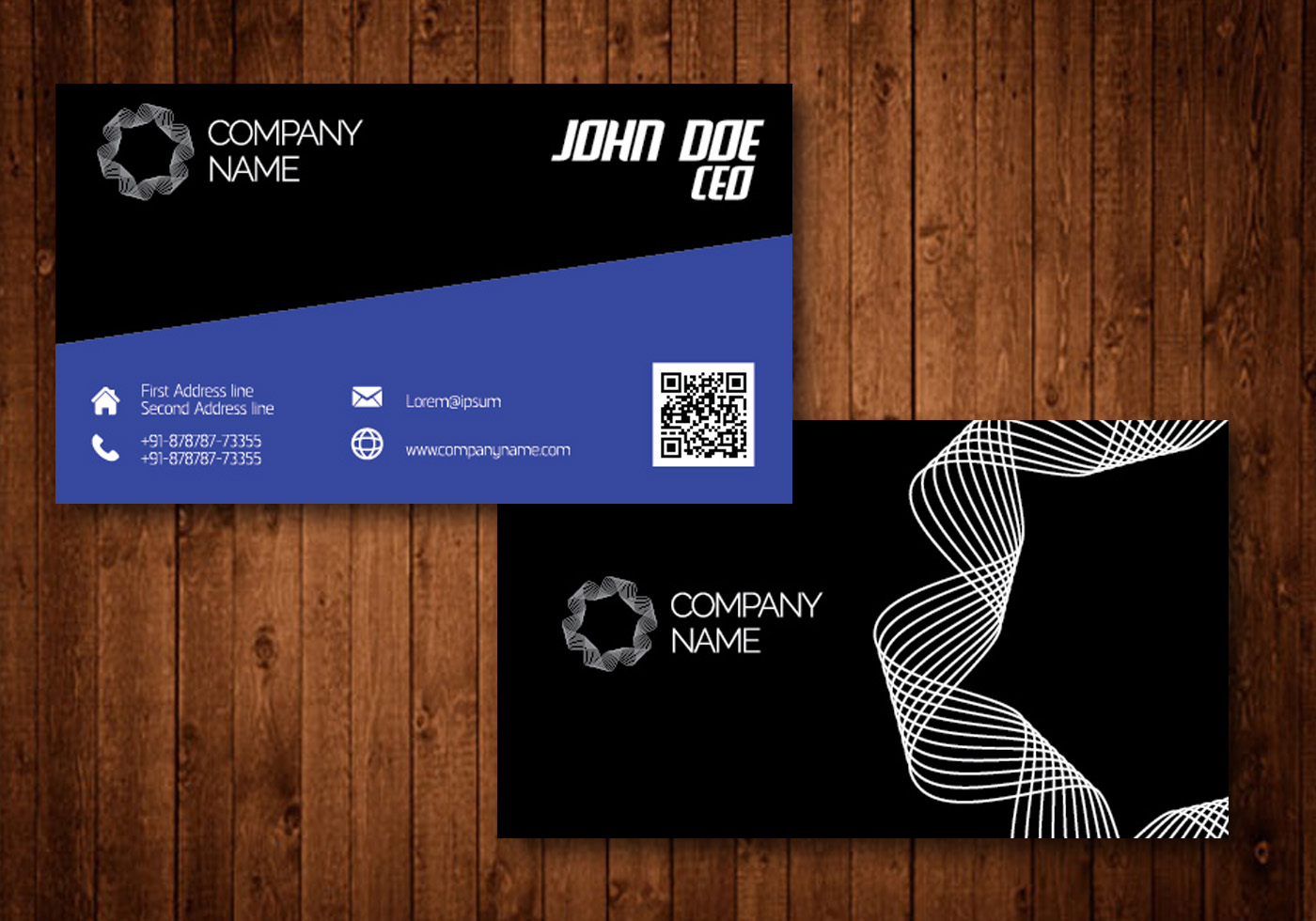 Spiral Creative Business Card - Download Free Vector Art, Stock ...