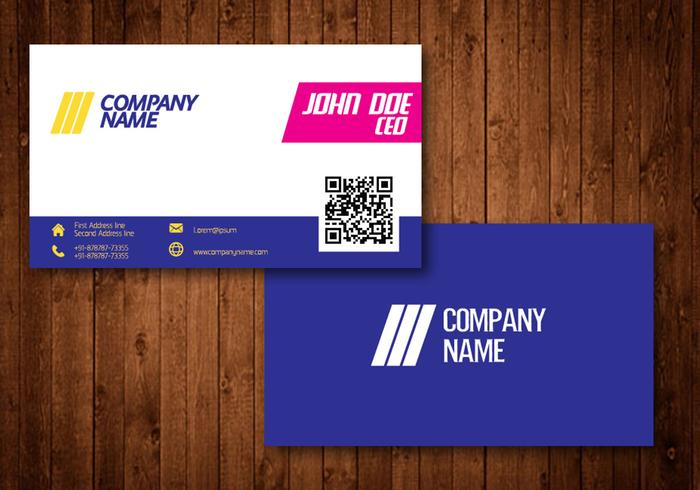 Bright creative business card download free vector art stock bright creative business card reheart Choice Image