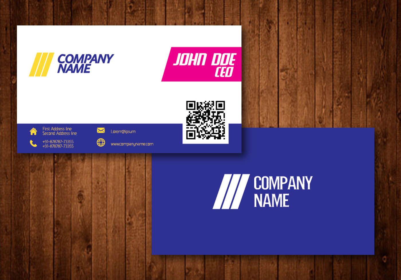 Bright Creative Business Card - Download Free Vector Art, Stock ...