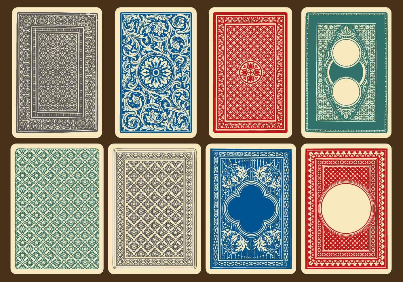 Old Card Back Vectors - Download Free Vector Art, Stock
