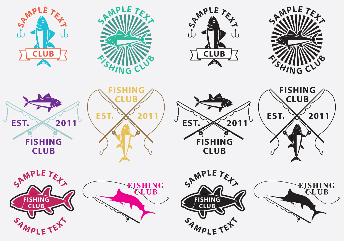 Fishing Logos -...