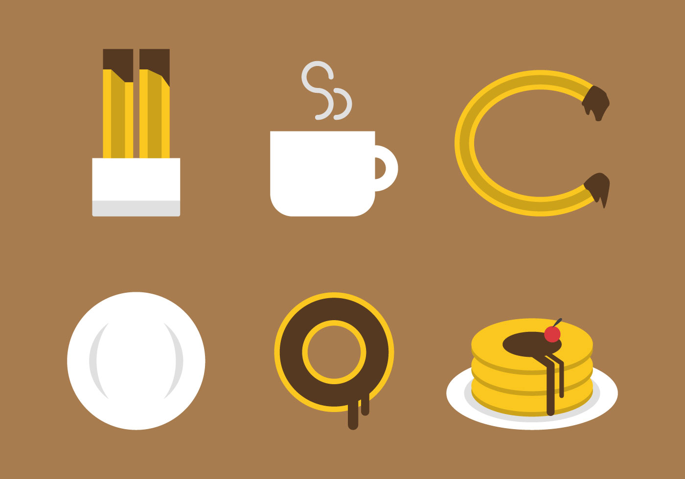Vector Cartoon For Free Download About 5 514 Vector: Free Churros Vector Icons #4