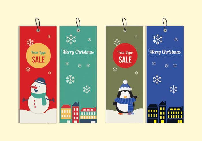 Etiquetas de Navidad vector