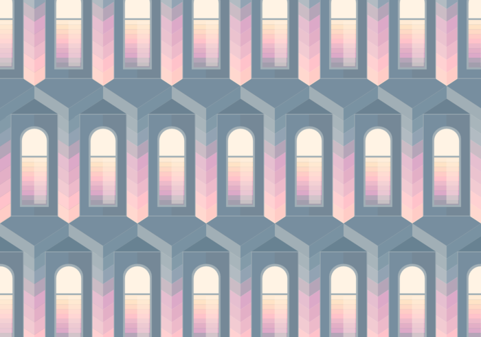 Seamless Pattern Dark Window