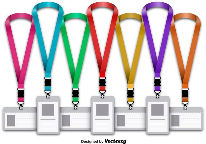 Corporative lanyard set