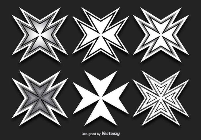 Maltese Cross Shapes