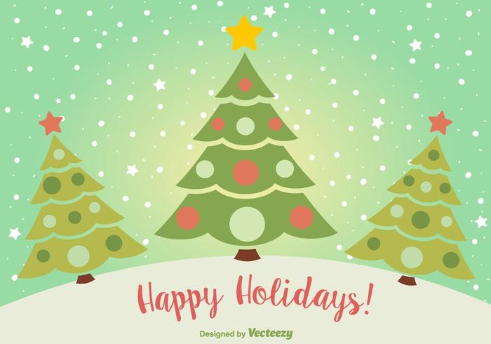 Happy holidays free vector art 22484 free downloads happy holidays christmas postcard m4hsunfo
