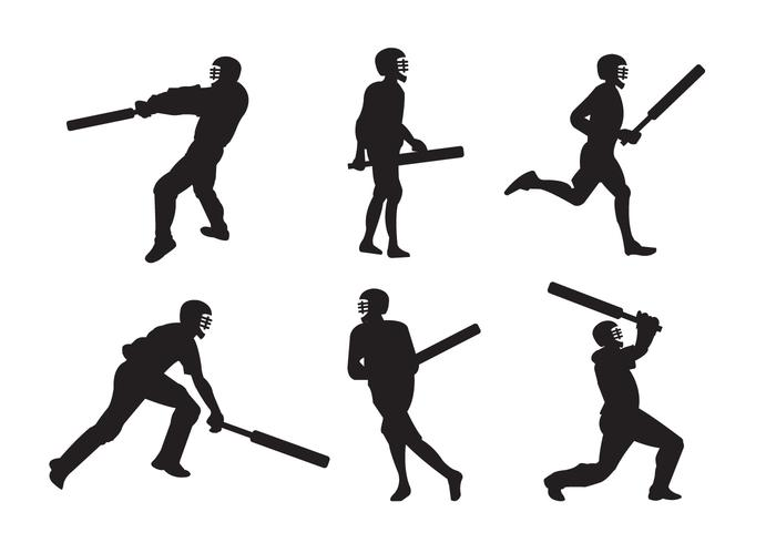 Cricket Players vector