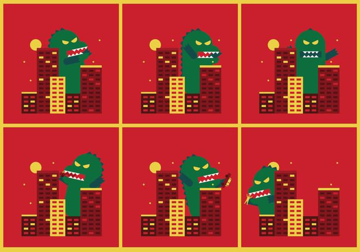 Godzilla Vektorillustrationen