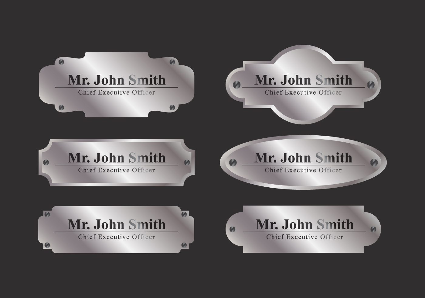 Vector name plate download free vector art stock for Classic house name plates
