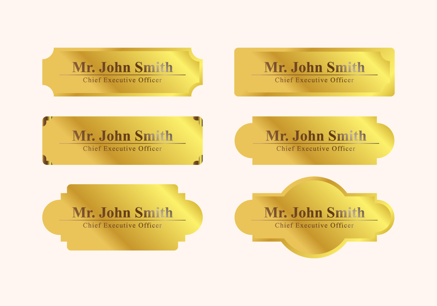 Vector Name Plate Download Free Vector Art Stock