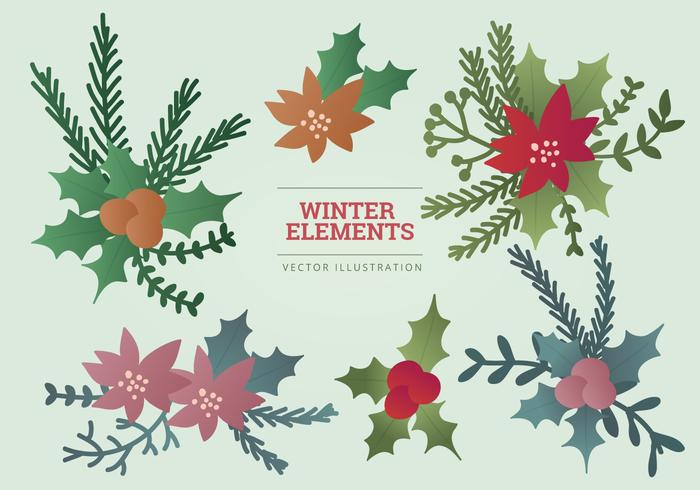 Vector Winter Elements Illustration