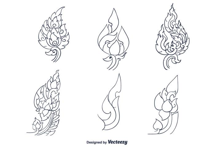 Hand Drawn Thai Pattern Vector