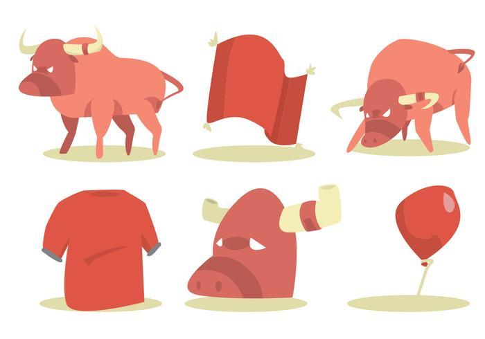 Ensemble de vecteur Bull Rider