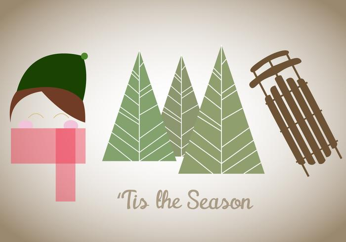 'Tis The Season Vector' gratuito