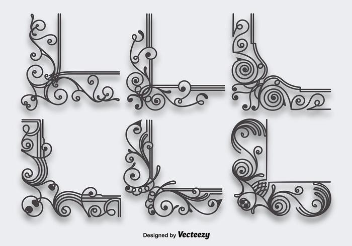 Esquinas ornamentales vector