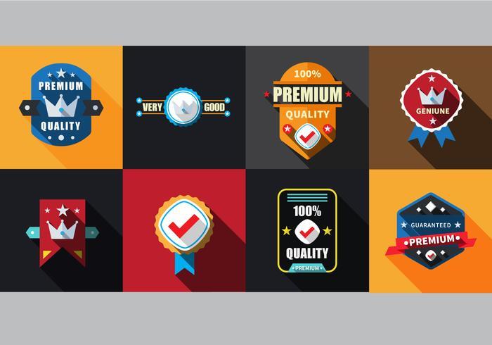 Free Flat Labels Badges Set Vector