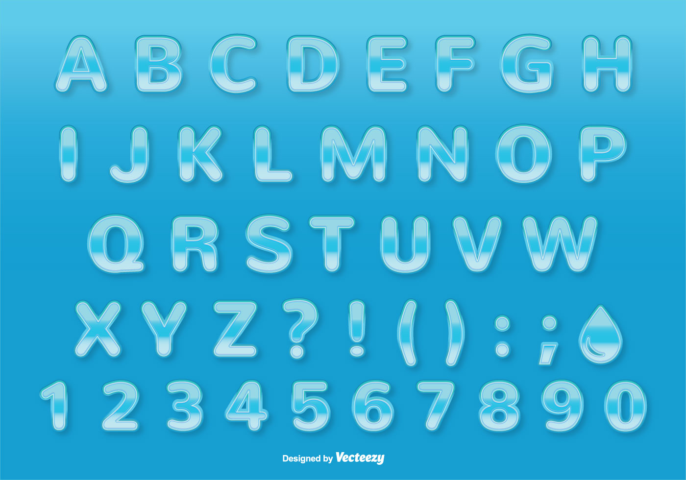 Water Style Font / Alp...