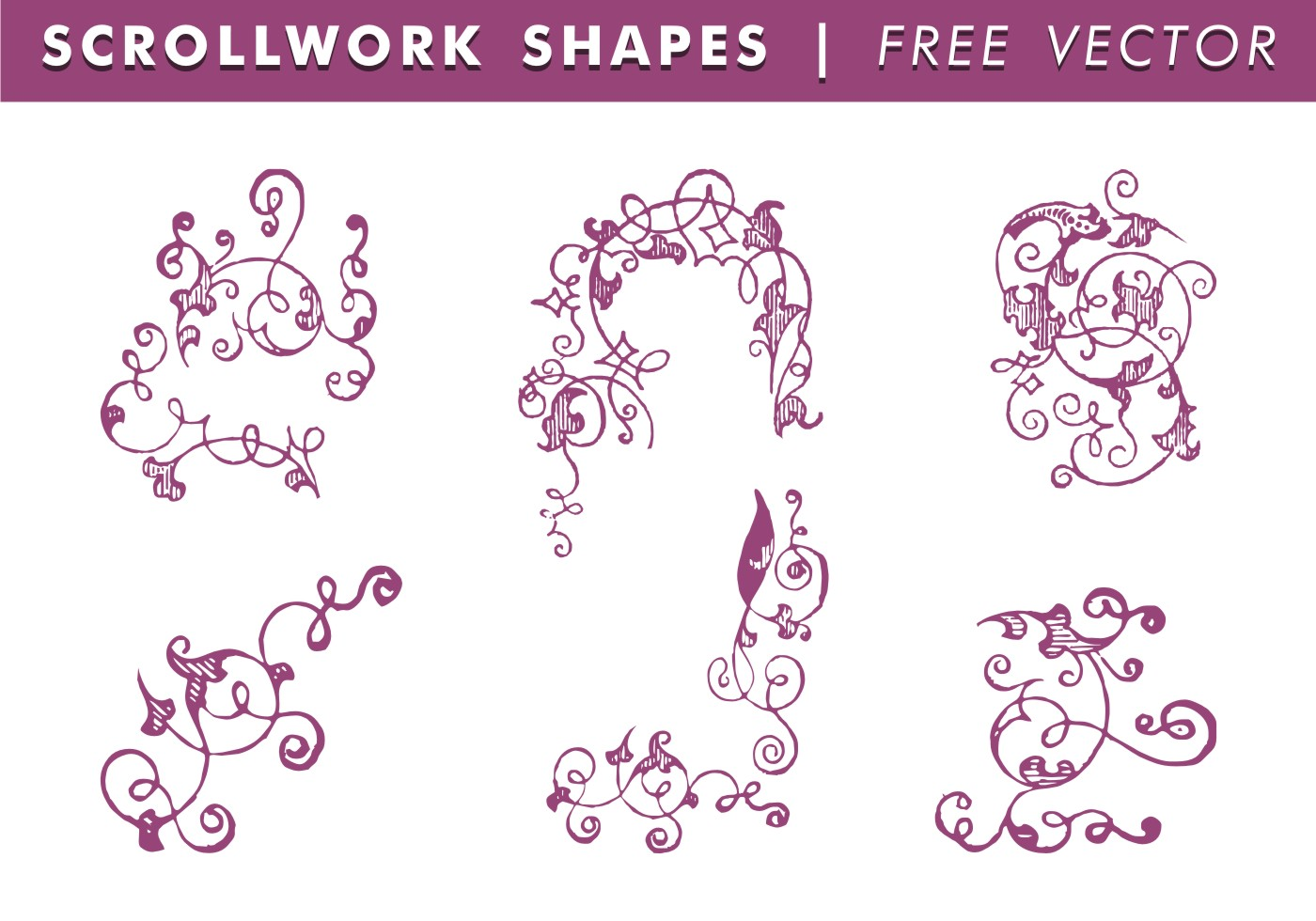 Scrollwork Shapes Free Vector Download Free Vector Art