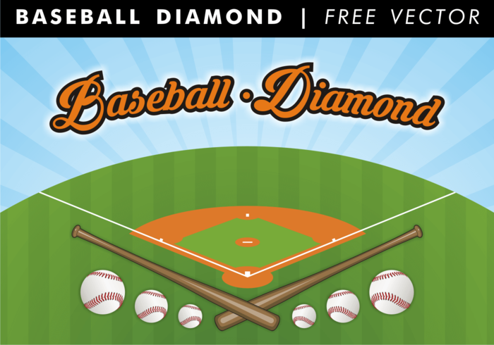 Baseball Diamond Free Vector