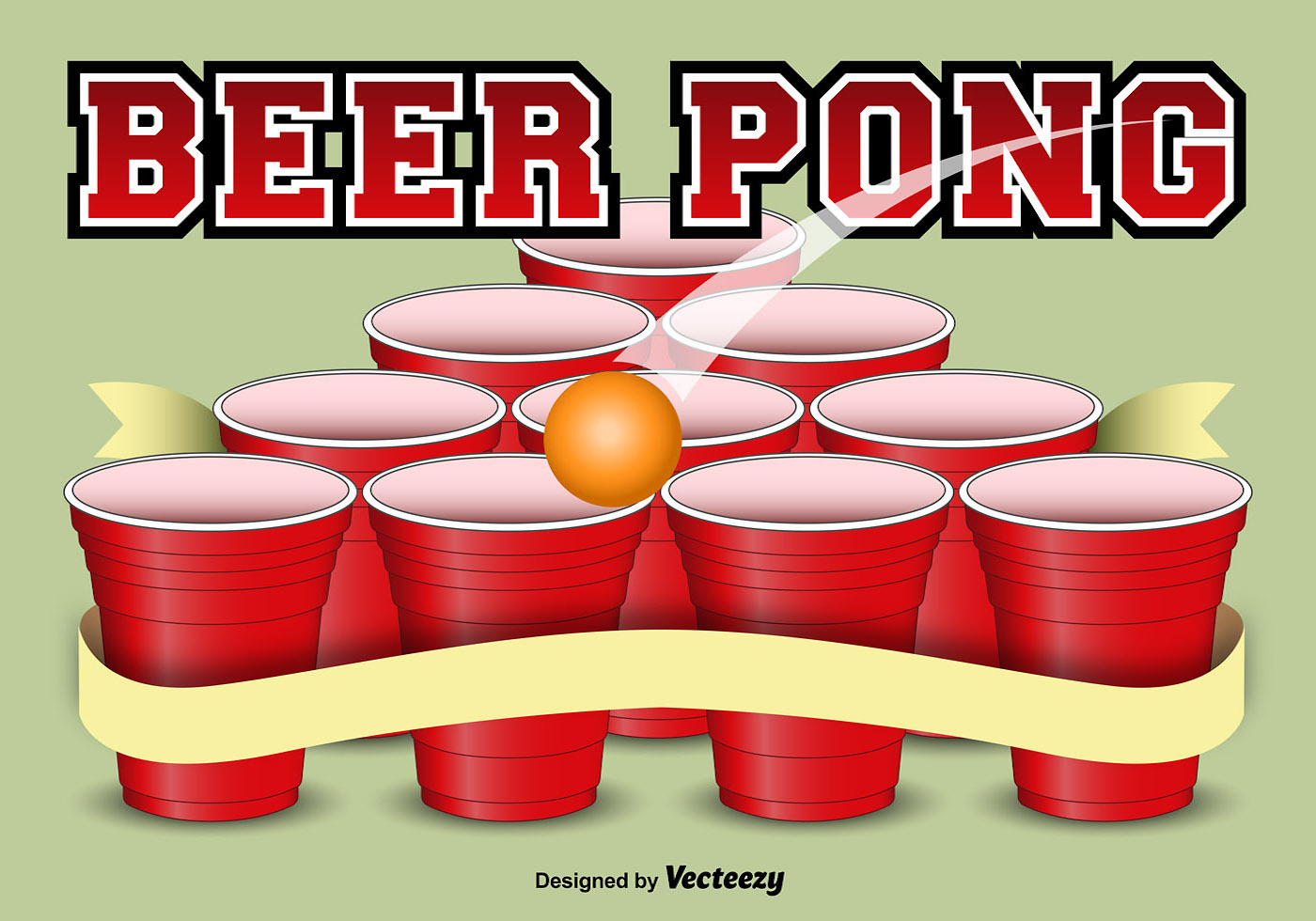 Beer Pong Template Background Download Free Vector Art