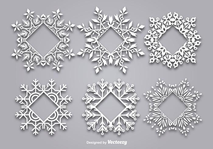 Decorative snowflake-shaped frame for text