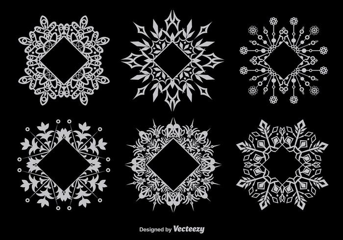 Decorative snowflake-shaped frames