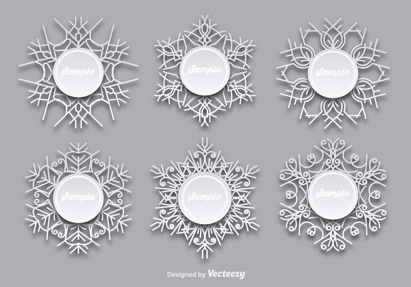Snowflakes templates - Download Free Vector Art, Stock Graphics & Images