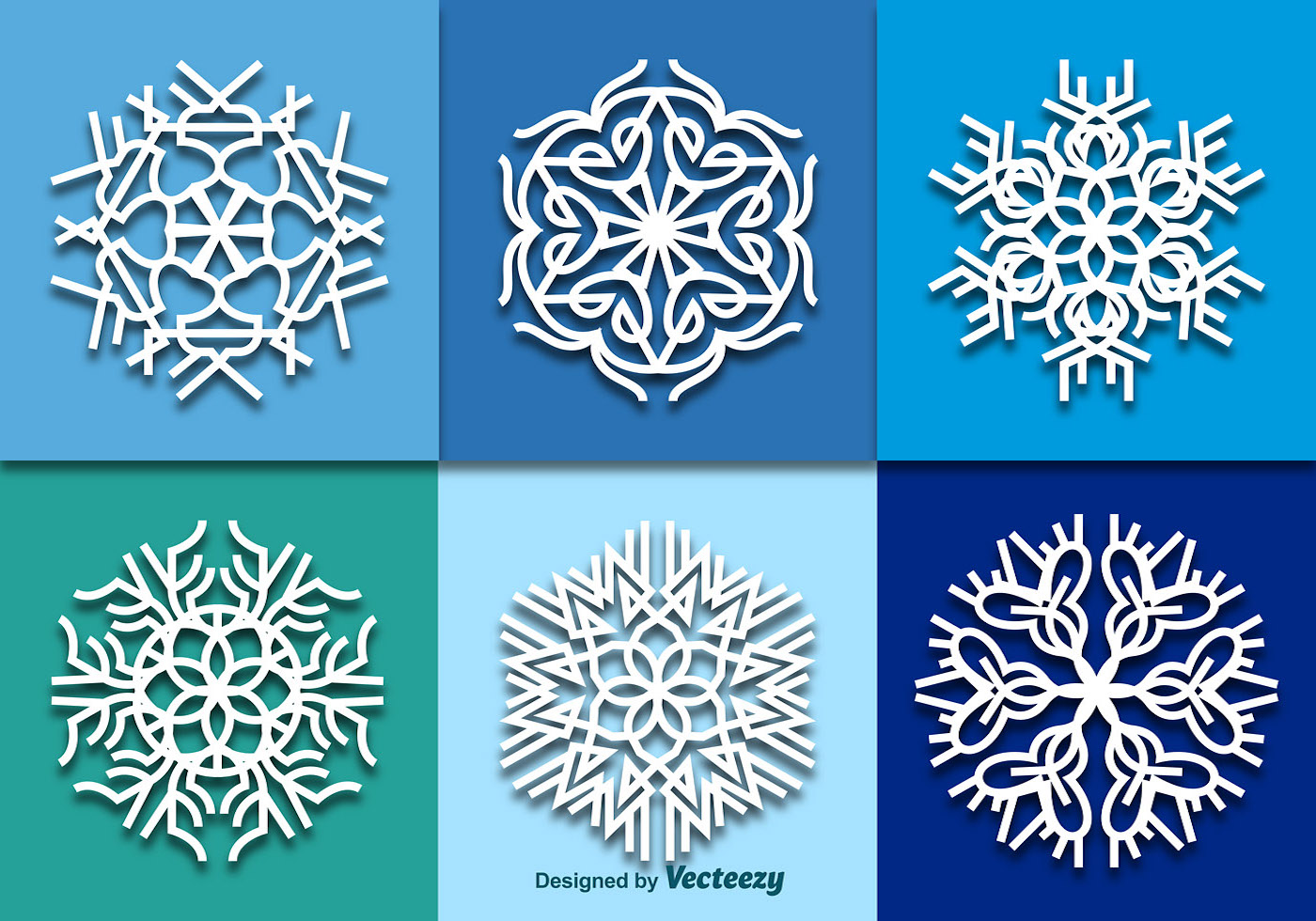 White Snowflakes Download Free Vector Art Stock