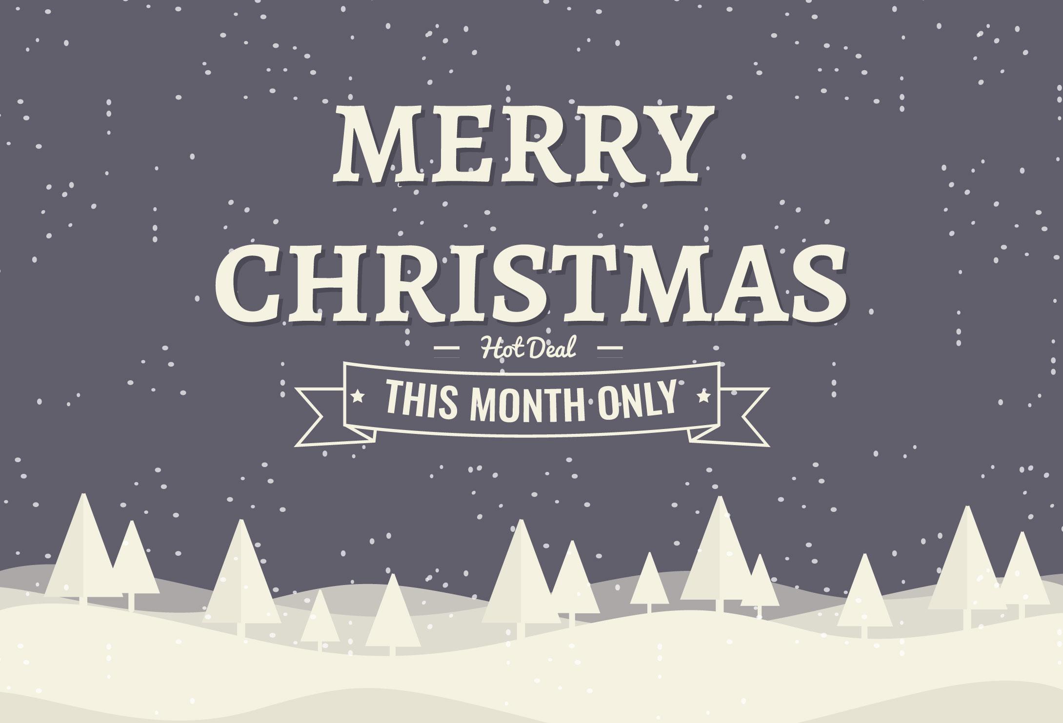 Freie Weihnachten Hintergrund Illustration mit Typografie ...