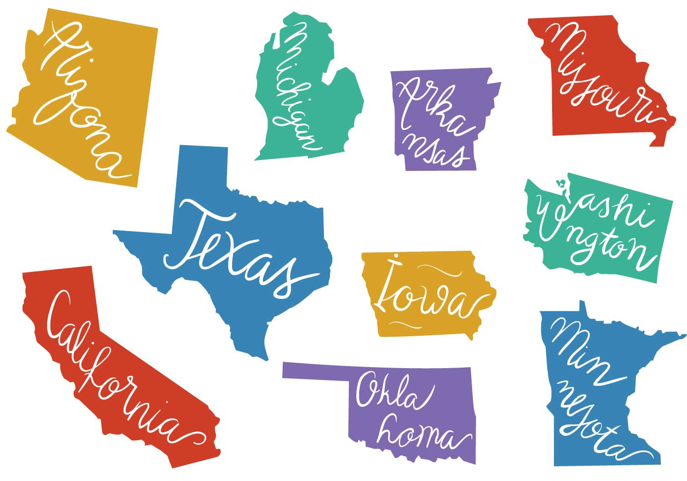 Free States Outlines Vectors Download Free Vector Art