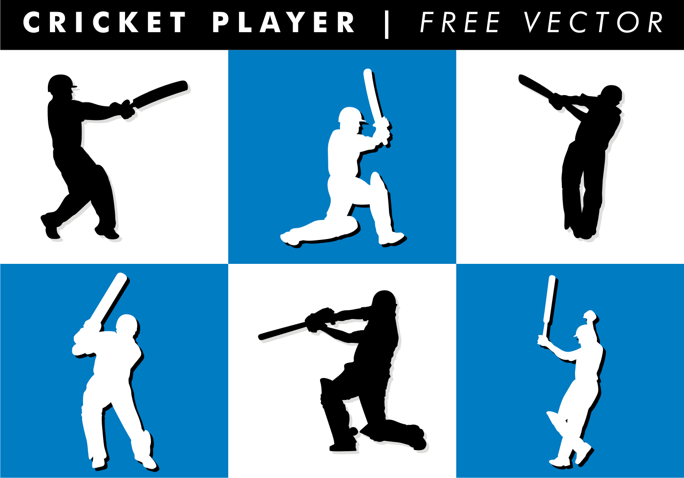 cricket player free vector download free vector art