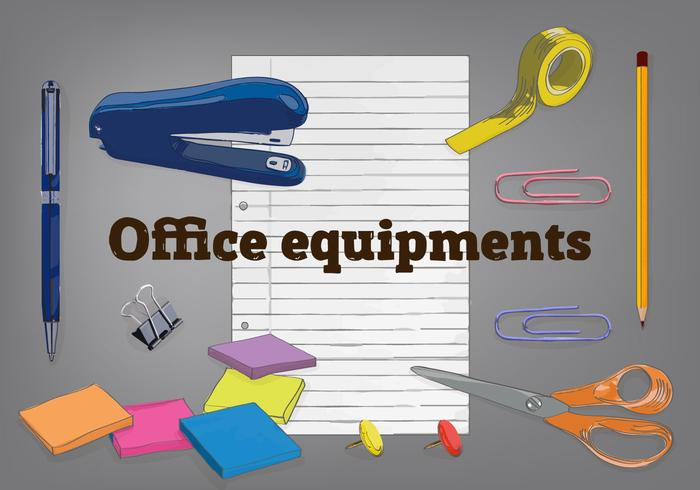 Free Office Elements Vector Background